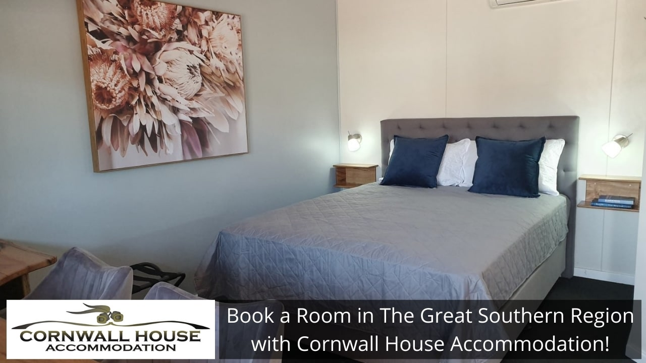 Book a Room in The Great Southern Region with Cornwall House Accommodation!